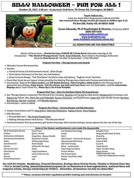 Silly Halloween Fundraiser 2017