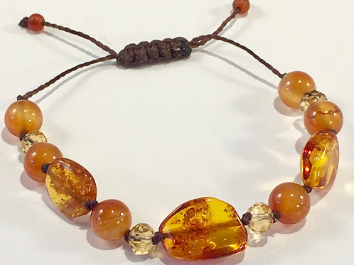 Three Piece Baltic Amber Therapy Bracelet