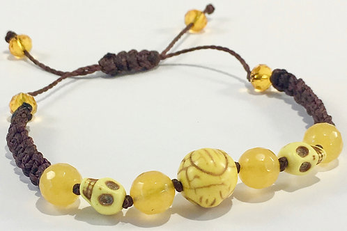 Yellow Turquoise w/ Yellow Jade Therapy Bracelet