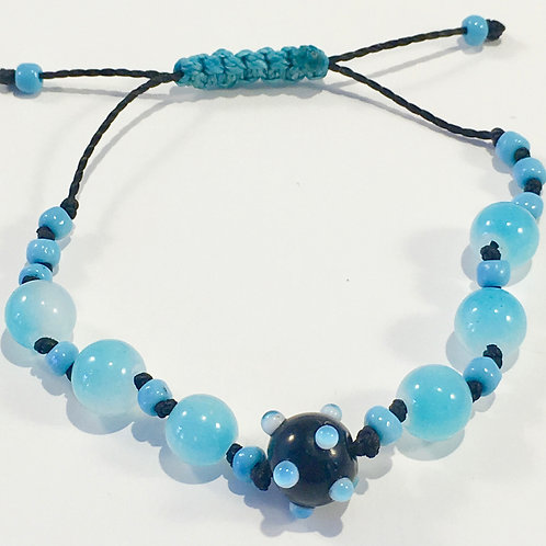 Glass Beads w/Turquoise Therapy Bracelet
