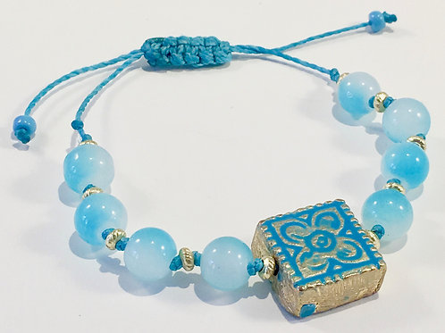 Square Flower Therapy Bracelet