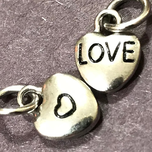 Silver Tone Little Love Charm