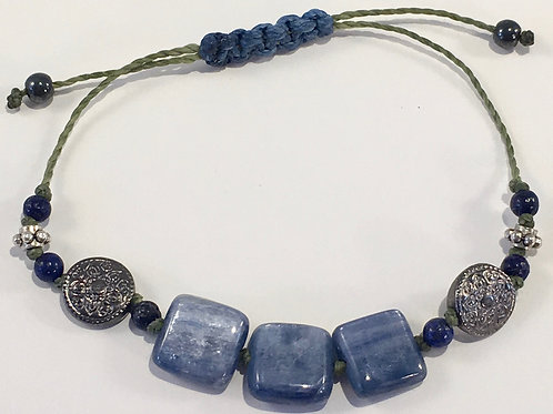 Blue Kyanite Square Therapy Bracelet