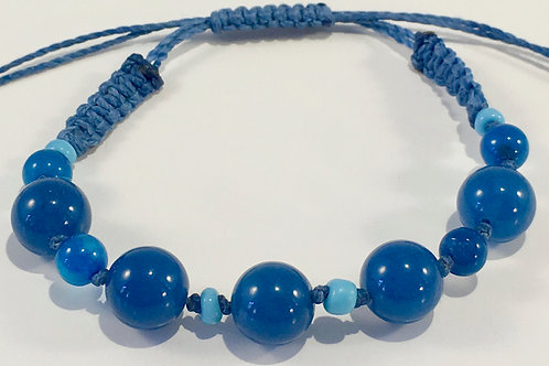 Blue Jade Therapy Bracelet w/Turquoise.