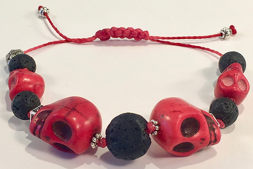 Red Turquoise Therapy Bracelet