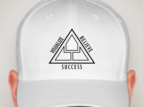 Visualize Believe Success TJK Flex Fit Hat (White)