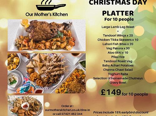 Christmas Day Lamb Roast Platter for 10
