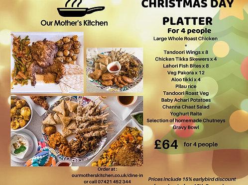 Christmas Day Roast Chicken Platter for 4