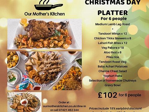 Christmas Day Roast Lamb Platter for 6