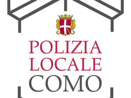 Regio dona il logo per 150 anni della Polizia Locale di Como
