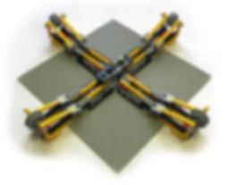 Biaxial Material Characterization Jig Diagonal View