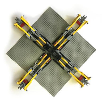 Biaxial Material Characterization Jig Top View