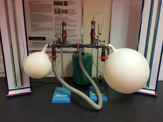 Two Balloons Experiment Setup