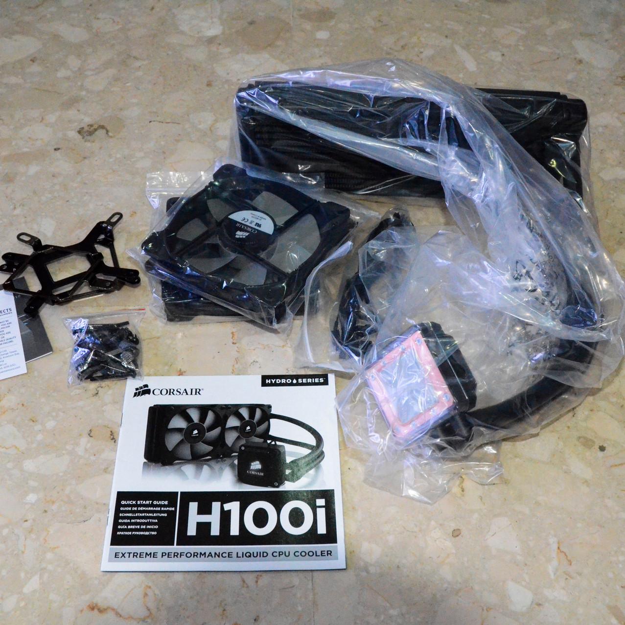 H100i Liquid Cooler Unboxed
