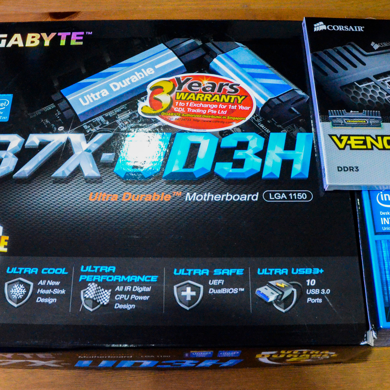 Motherboard, CPU, and RAM