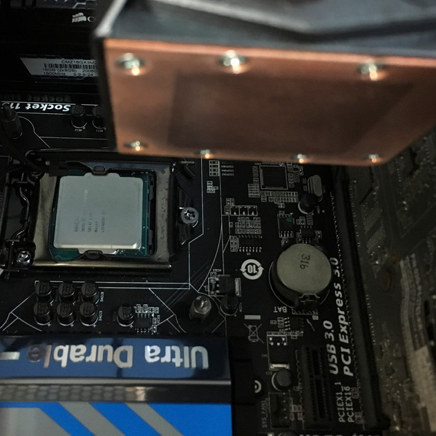 Cleaned Water Block and Processor