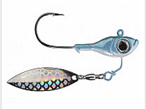Super Spin Pro Model Blue Back Herring Silver Flash Blade