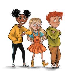 The three main characters