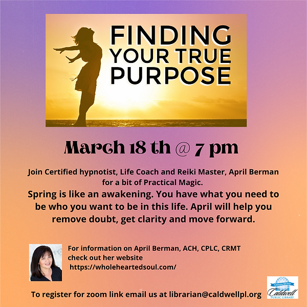 April Berman Finding your True Purpose (