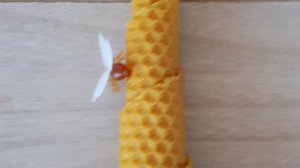 Bijenwas kaars gerold