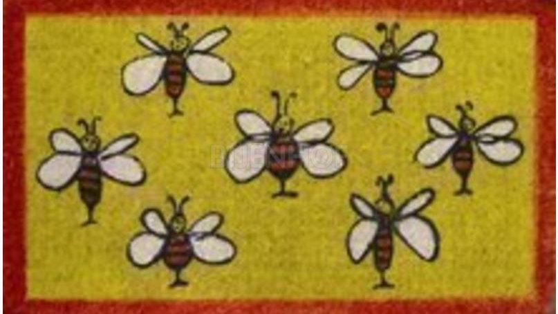 rechthoekig tapijt met bijen