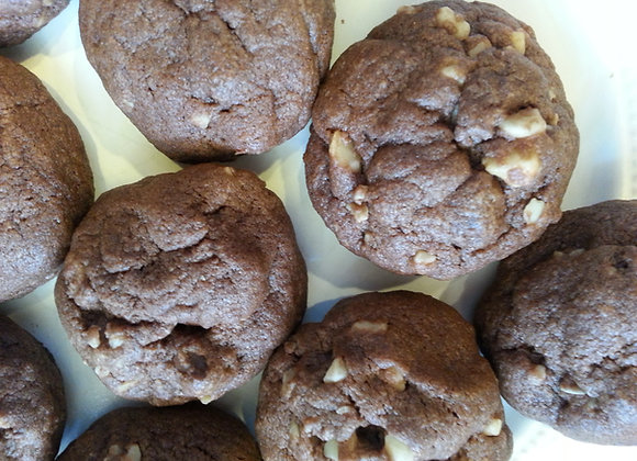 Gluten Free Double Chocolate Macadamia Nut Cookie