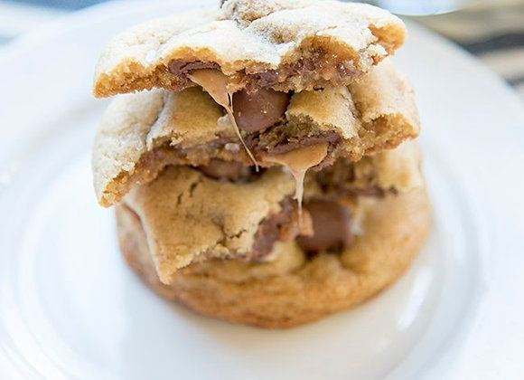 Rolo Stuffed Chocolate Chip Cookie