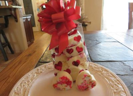 White Chocolate Bark Hearts