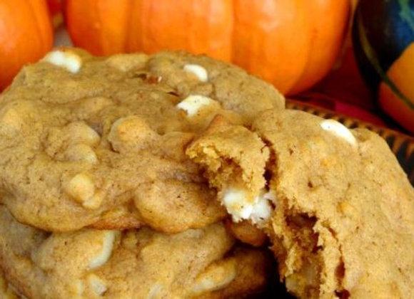 Macadamia Nut White Chip Pumpkin Cookie