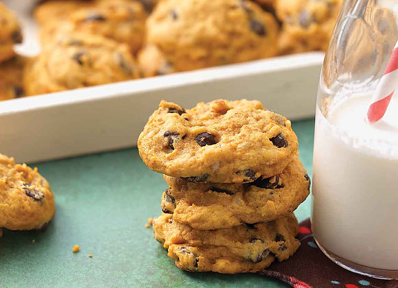 Pumpkin Chocolate Chip Cookie with Macadamia Nuts