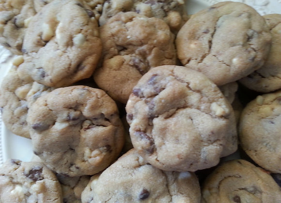 Triple Chocolate Chip Cookie with Macadamia Nuts