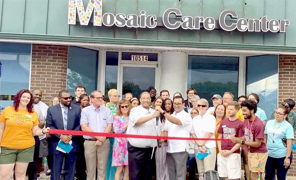 Mosaic Care Center Staff at the Ribbon Cutting and Grand Opening Ceremony
