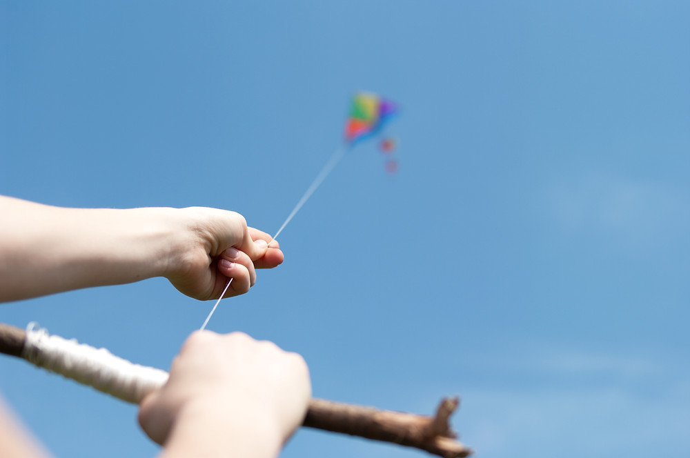 Fly a kite at Arch Cape Oregon