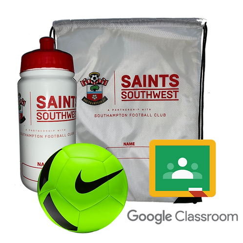 Training Bundle; Ball, Drawstring Bag, Drinks Bottle and a Digital Home Learning Classroom