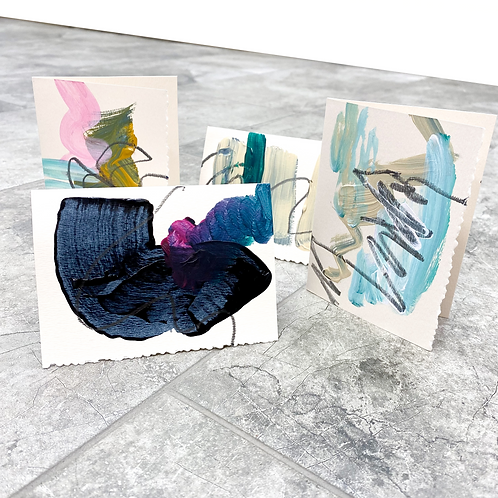 Contemporary Cards Assorted Pack of 4