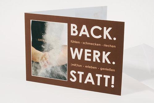 """Geschenks-Gutschein """"BACK.WERK.STATT"""""""