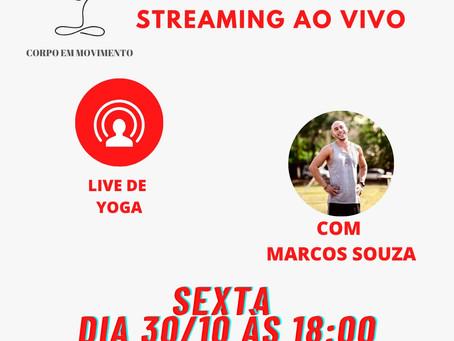 Live de Yoga no Instagram