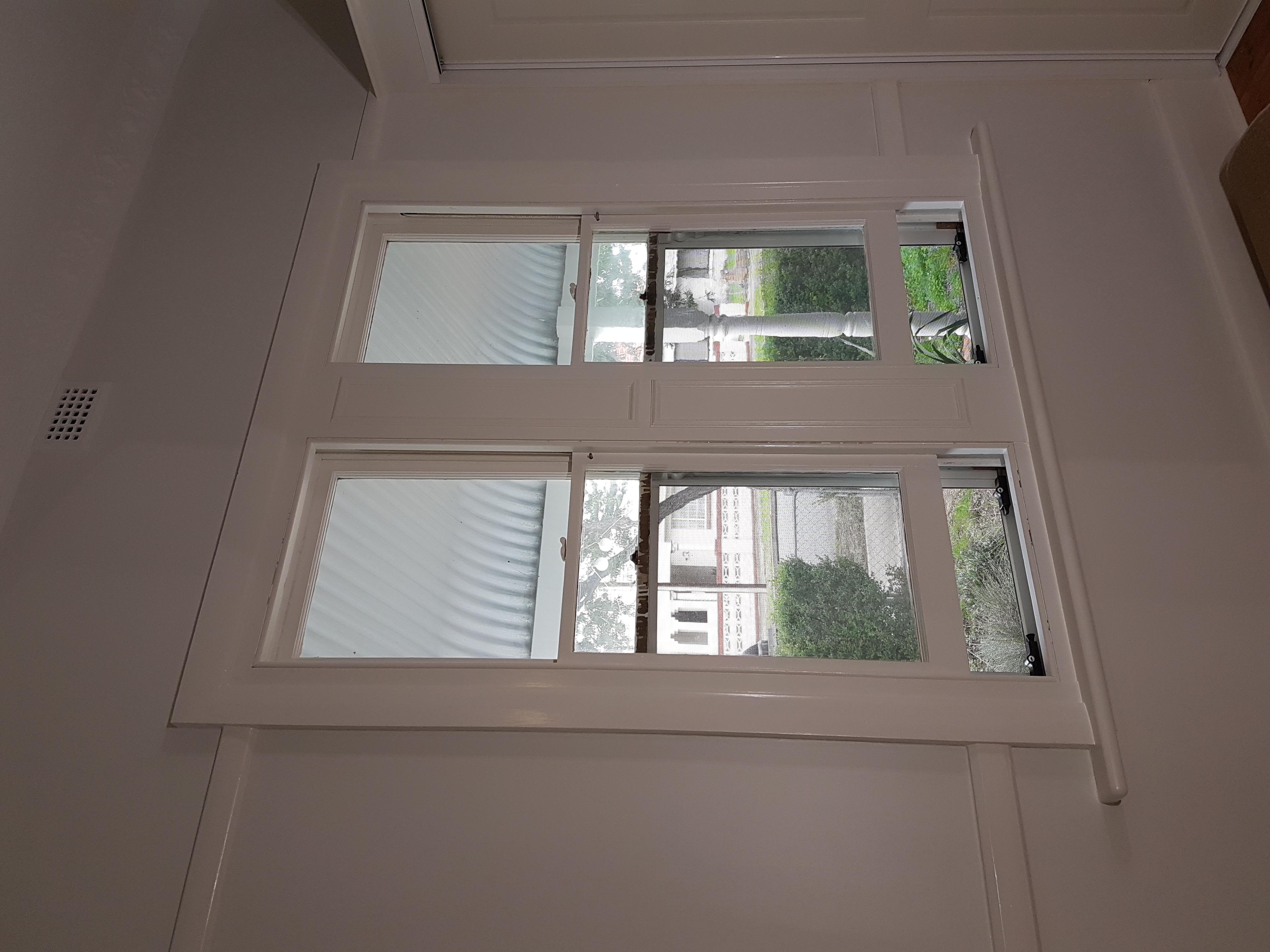 Freshly painted window