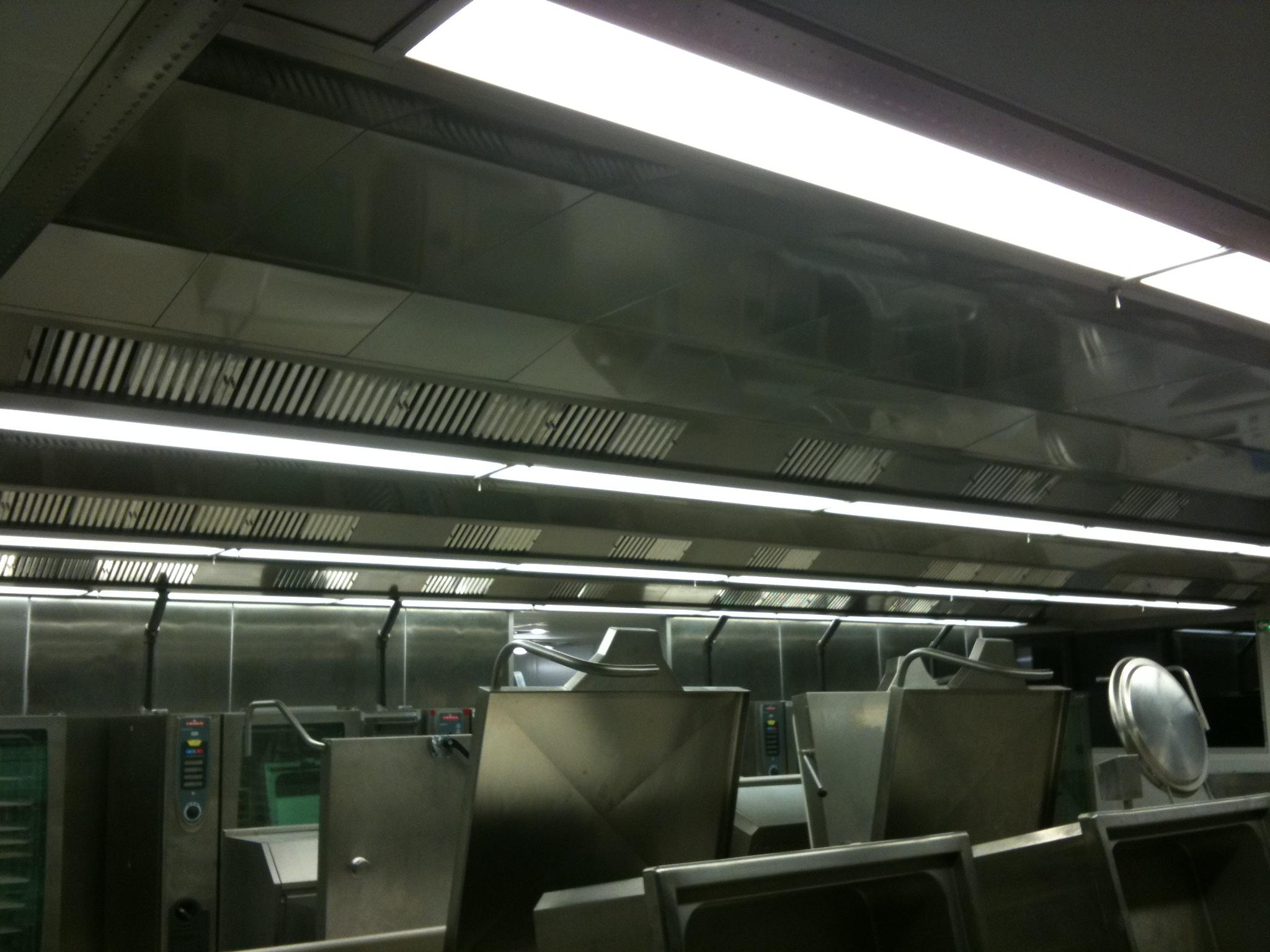 Plafond filtrant cuisine centrale