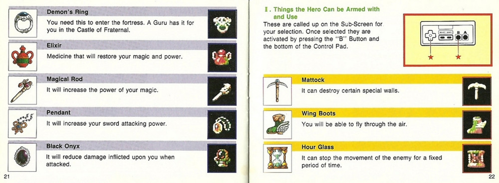 faxanadu manual