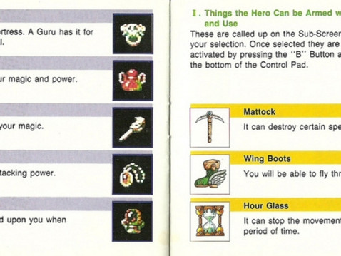 Bring back the oldschool video game manuals