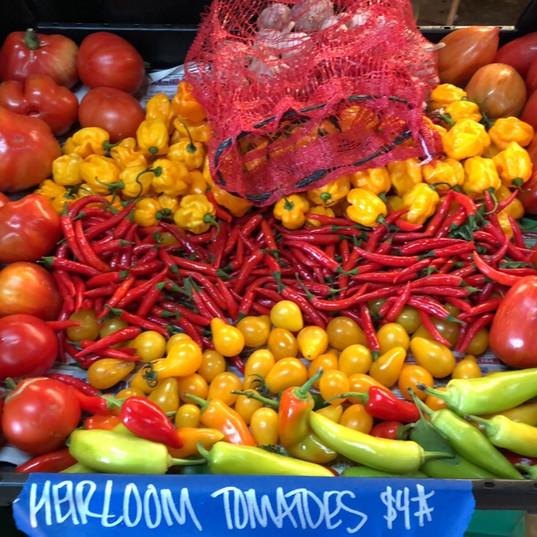 Heirloom Tomatoes $4#