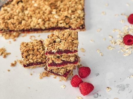 Super Scrummy Raspberry Crumble Bars..