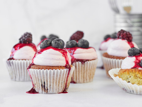 Forest Fruit and Yoghurt Cupcakes