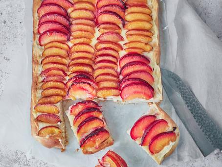 Plum Custard Bake