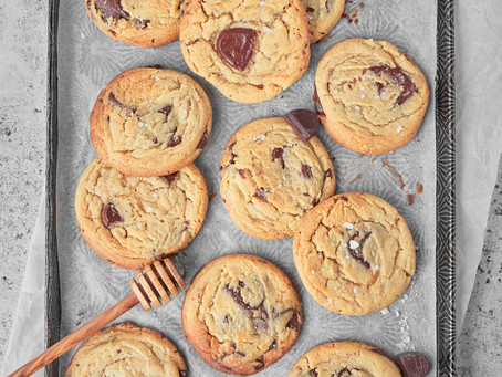 Brown Butter Honey Chocolate Chip cookies