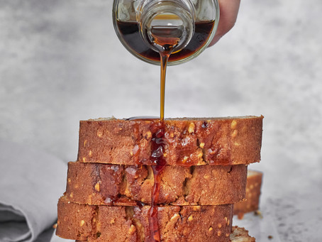 Maple and Hazelnut Loaf Cake