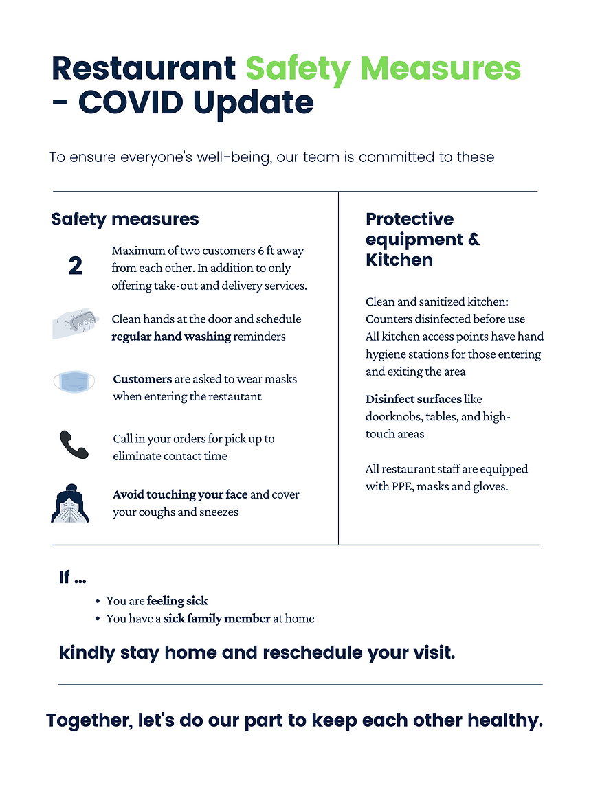 Blue and White Workplace Guidelines Coro