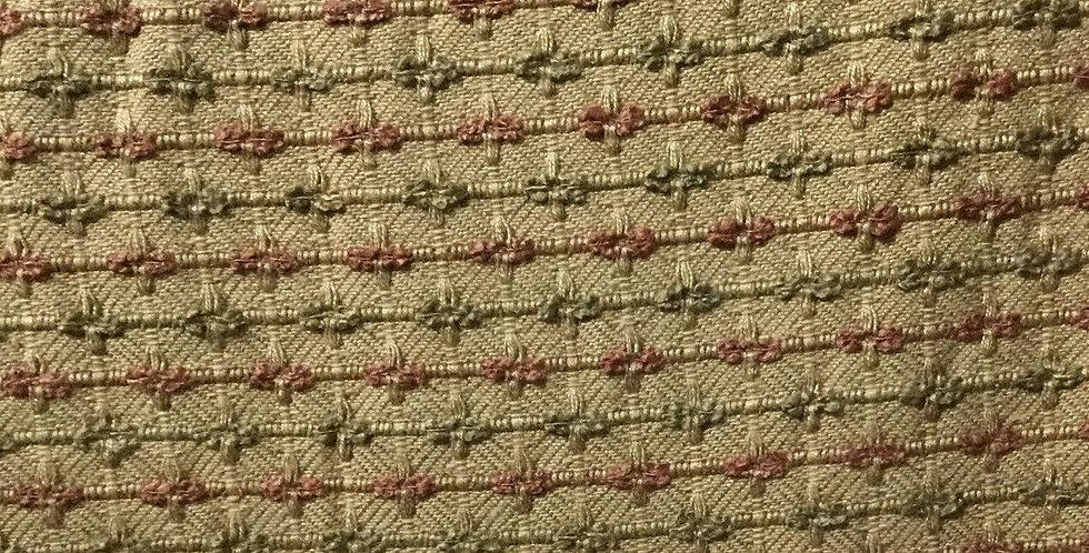 Textured Gold, Green & Salmon