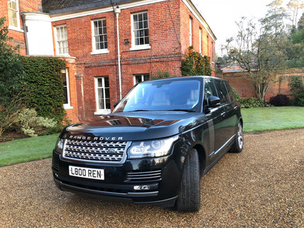 Black Range Rover Autobiography Model in a Country Estate